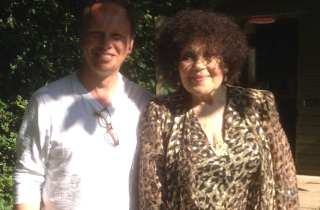 Jeff with Dame Cleo Laine