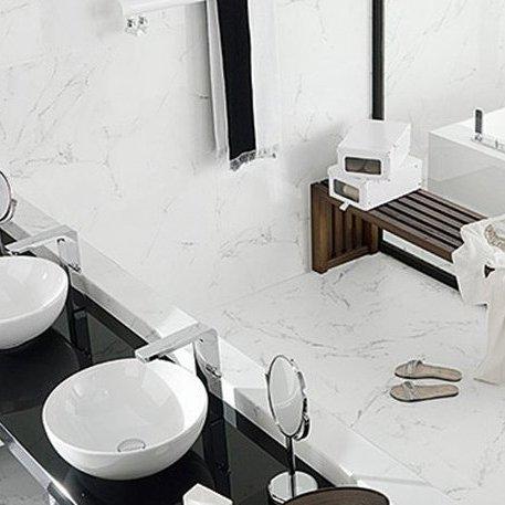 Glass tiles bathroom shower