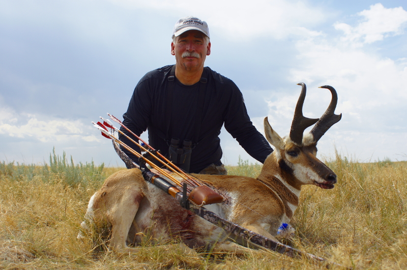 The author with his gorgeous Wyoming antelope.
