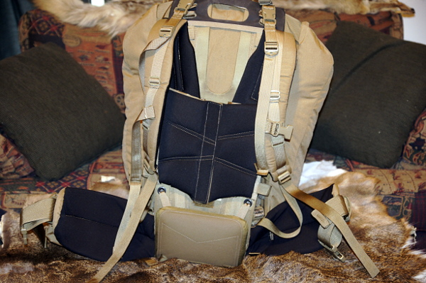 Pack ready for the backcountry