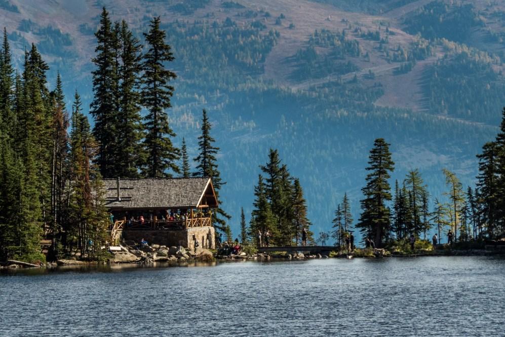 Lake Agnes teahouse, Alberta, Canada