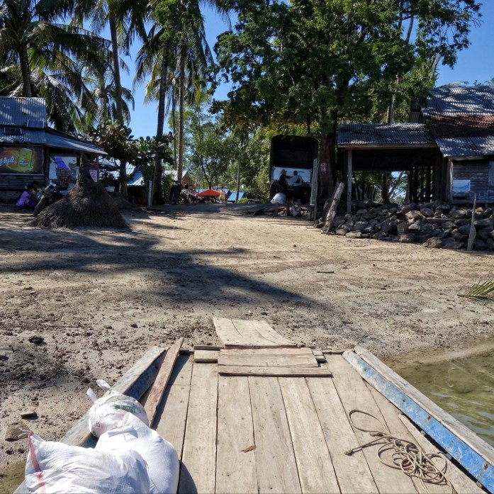 Safety first - yep, the ramp is secure! - ngwe saung beach
