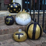 Painted & Glittered Pumpkins