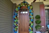Garland Door & Decorating With Grapevine Garland   Cat ...