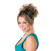hot hair curly palm hairpiece