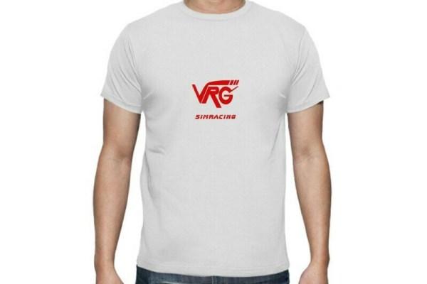 Camiseta VRG Simracing blanca logo rojo