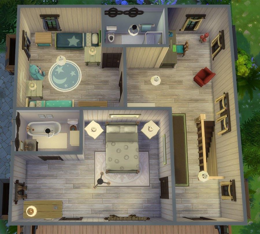 Sims 4 Chalet Maison Hiver