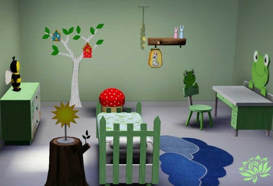 Sims 3 Set Meuble Chambre Nature Indit