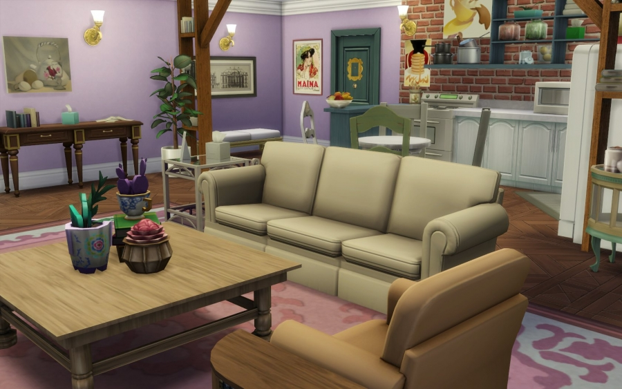 Sims 4 Friends tv show srie tl central perk monica chandler appartement