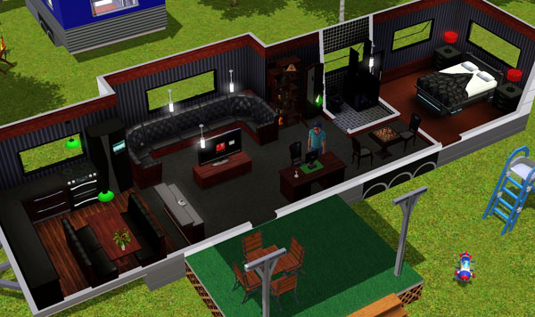 fifth wheel with front living room ceiling design kerala sims 3 - grande roulotte blanche intérieur, white ...