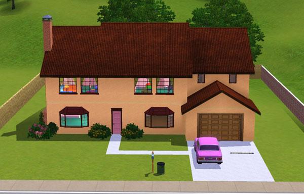Sims 3 La Maison Des Simpson The Simpsons House Casa