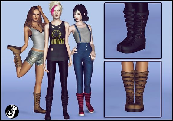 Sims 3 boots, shoes, sims