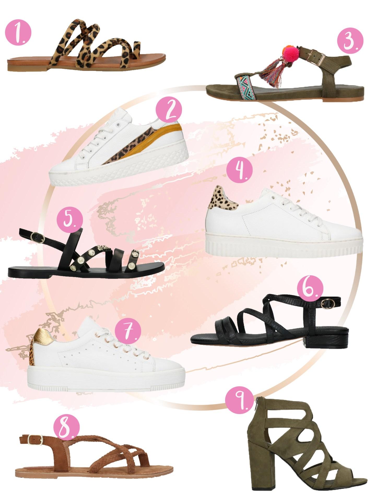 Sneakers en sandalen voor de lente