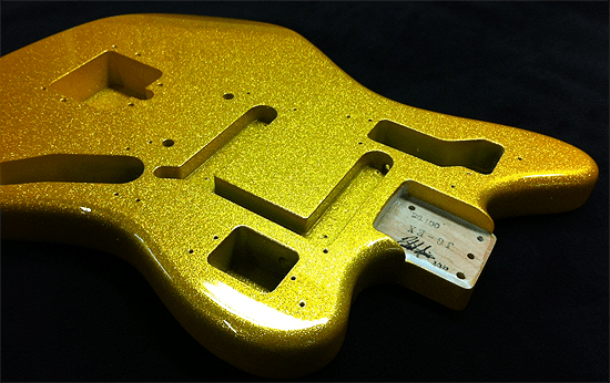 Vegas Gold Fender Jaquar Sims Guitar Refinishing