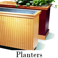 custom planters and green space