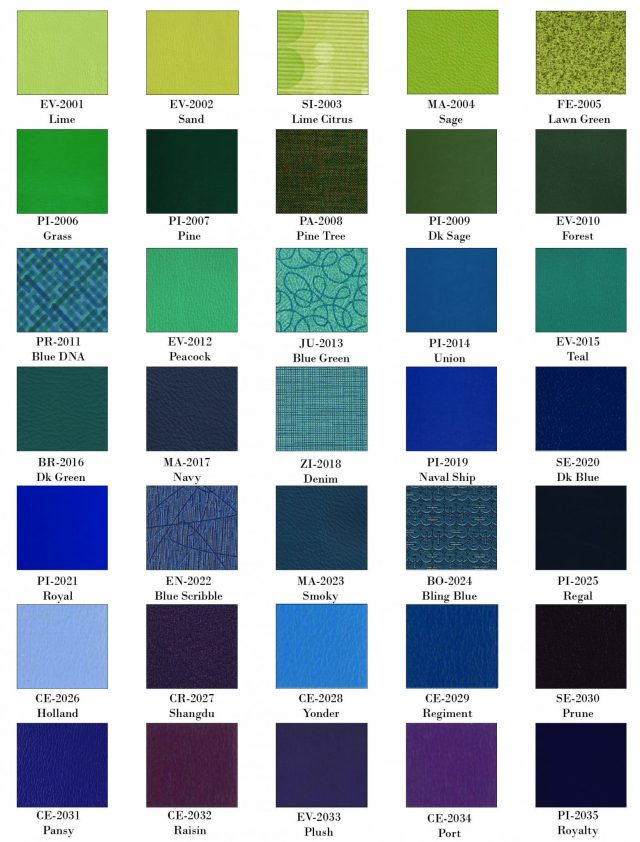 Vinyl Blue and Green Swatch