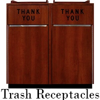 recycling and trash receptacles