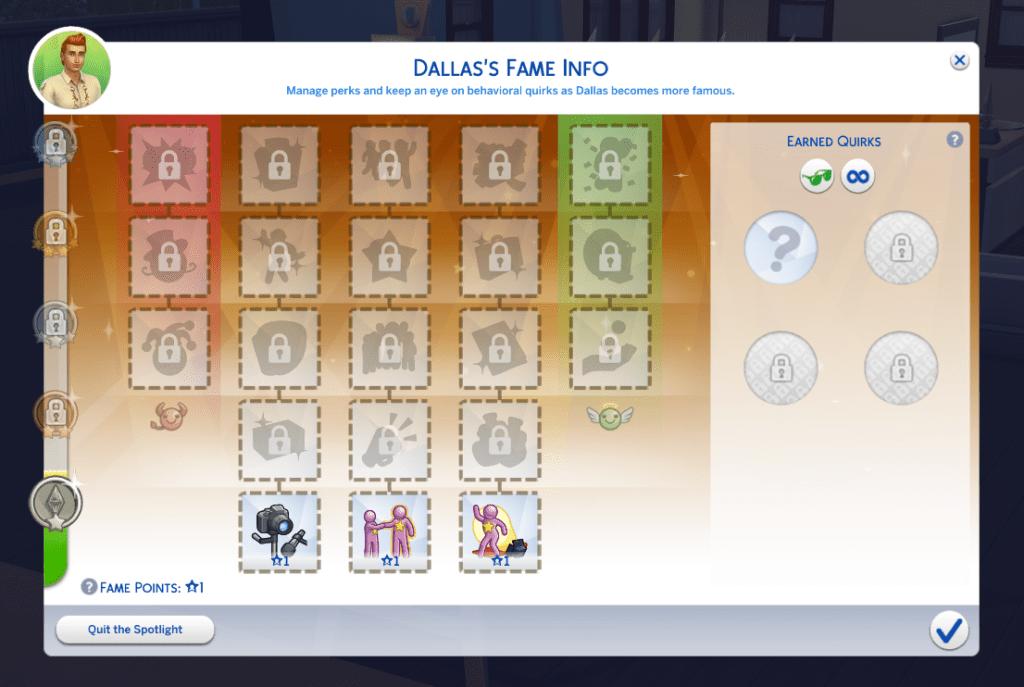The Sims 4: Get Famous Şöhret Paneli
