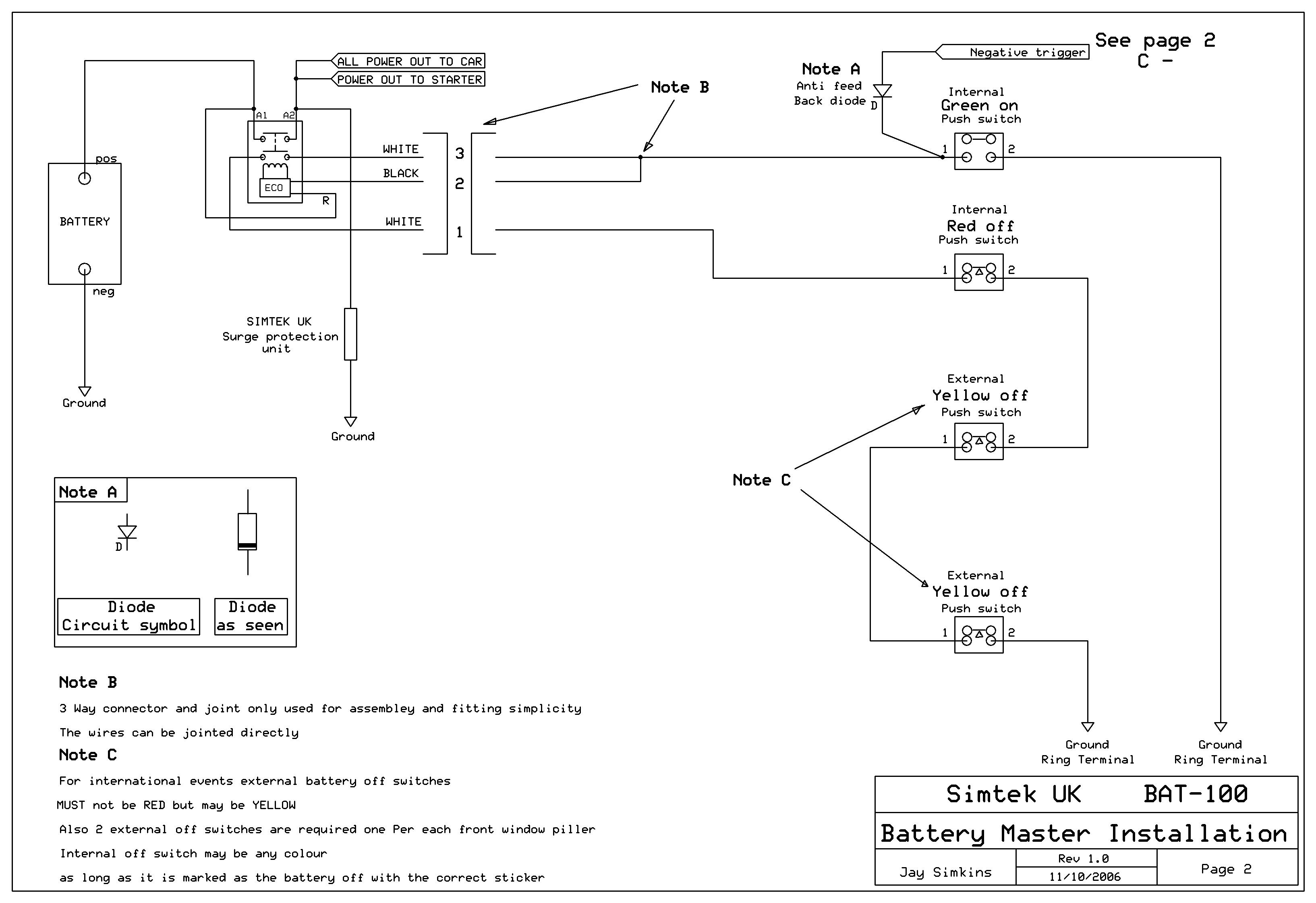 battery master switch wiring diagram heater ls1tech relocation kill