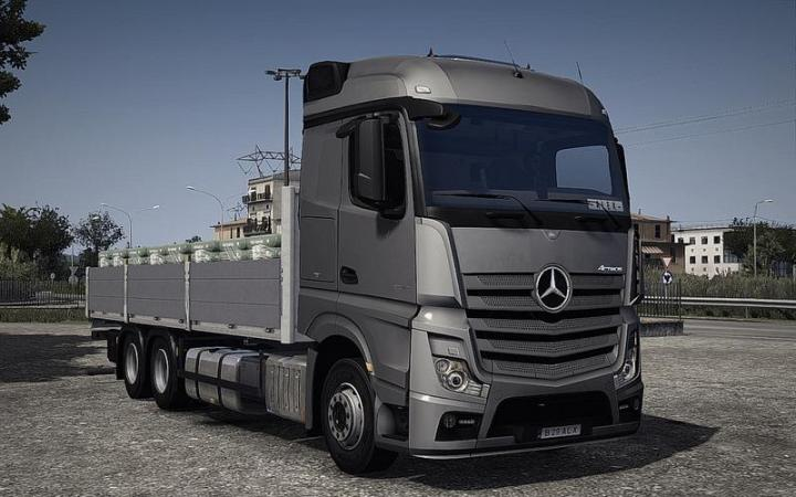 Ets2 Mercedes Actros Mp4 Rigid Chassis V1 1 33 X