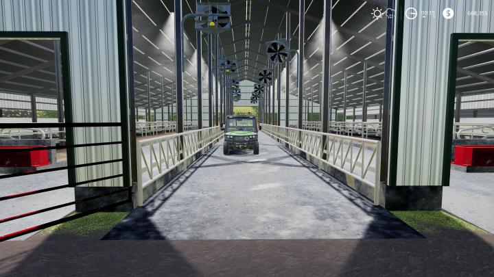 FS19 Large American Cow Shed V1 Simulator Games Mods
