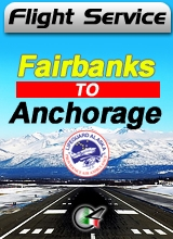 Flight Service  AS061 - Fairbanks to Anchorage