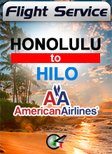 Flight Service  AA666 - Honolulu to Hilo