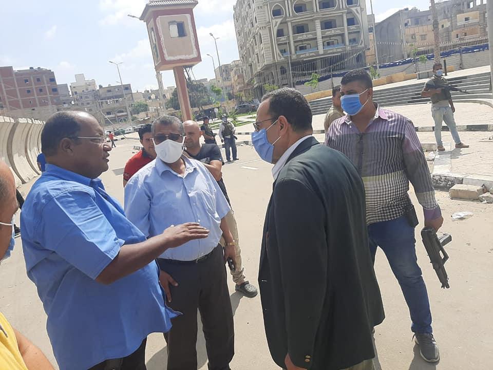 محافظ شمال سيناء يتفقد مشروع تطوير العريش .