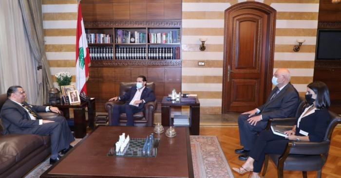 الحريري يبحث مع سفير مصر لدى لبنان آخر المستجدات