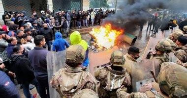 لبنان: محتجون يحاولون اقتحام مبنى النواب والأمن يرد بقنابل الغاز والمياه لتفريقهم