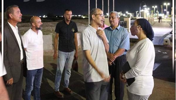 نائب محافظ جنوب سيناء في جولة تفقدية ليلية بكورنيش طور سيناء