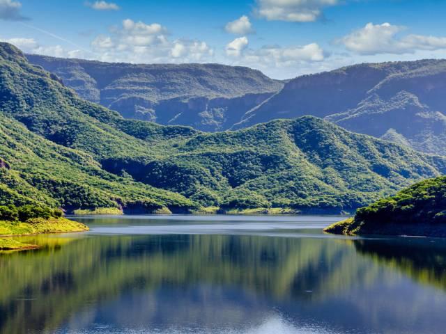 Laguna en la Sierra Tarahumara