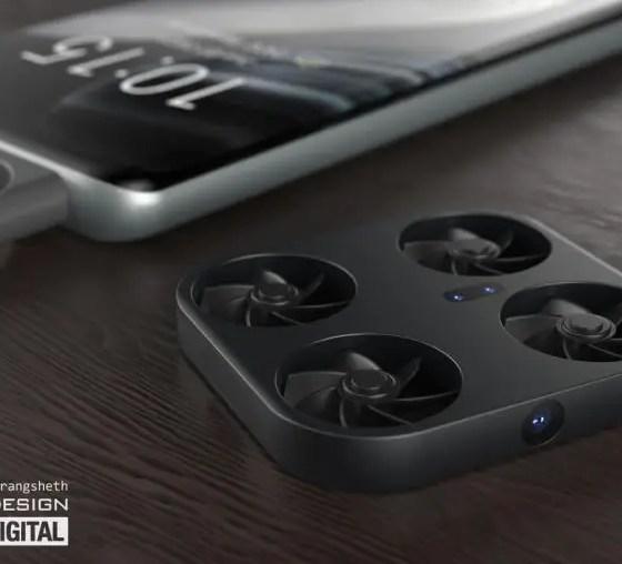 vivo, mini drone, smartphone, illustration