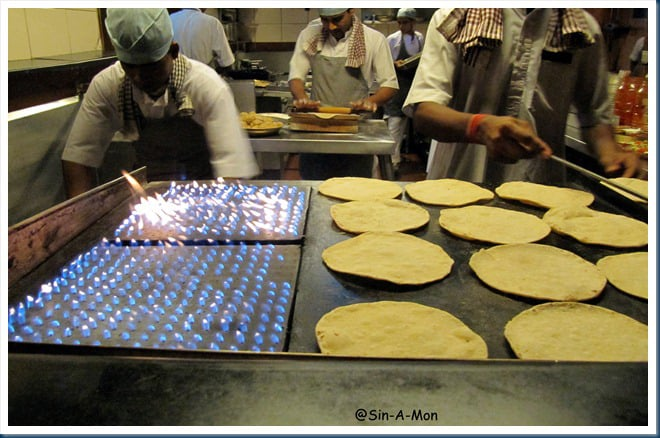 The making of a roti