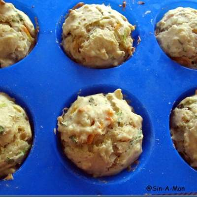 Whole Wheat and Veggie Savory Muffins
