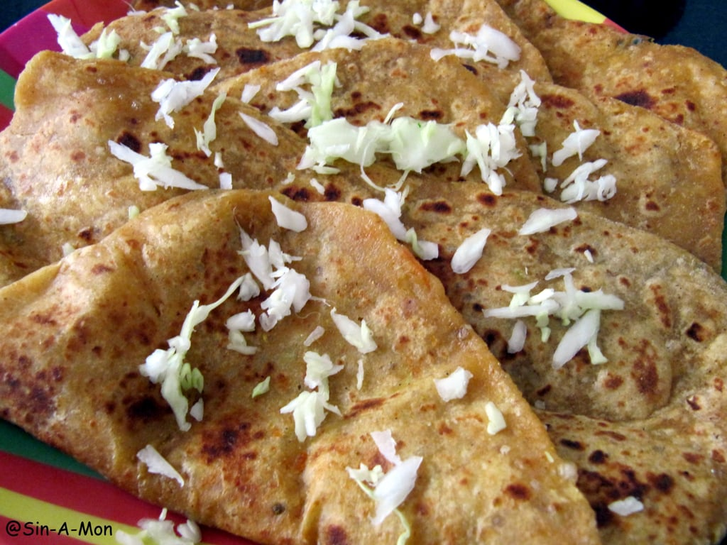 cabbage cheese parantha