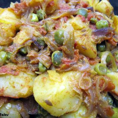 Microwave Aloo Mutter | BM5 | Post 1