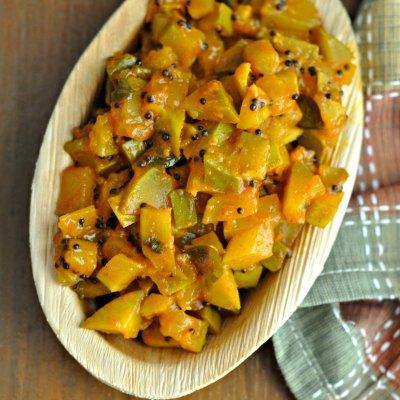 Raw Mango Chutney/Instant Raw Mango PickleBM6 Post 3
