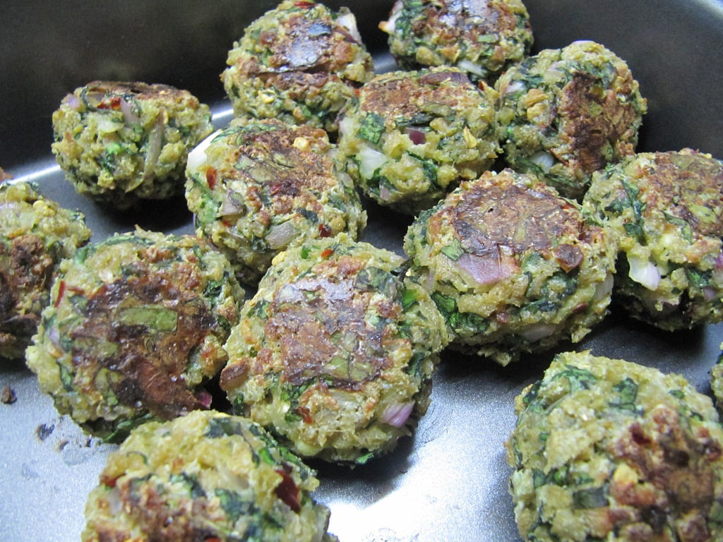 baked spinach balls