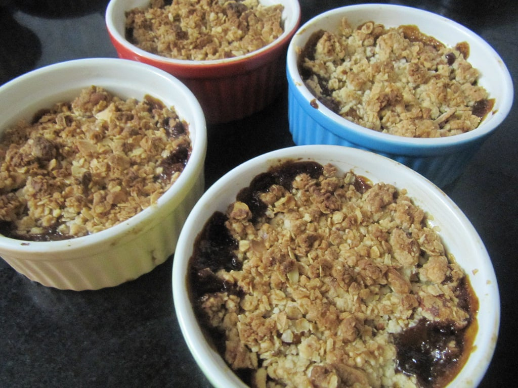low fat mango blueberry crumble