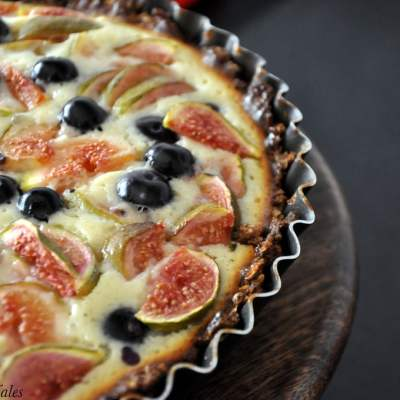 Julia Child's Oats & Baked Yoghurt Tart