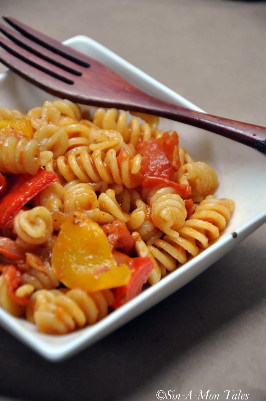 roasted tomatoes & basil pasta