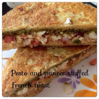 Quick Cooking : Pesto & Paneer Stuffed French Toast