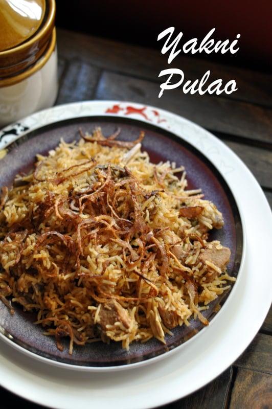 Lucknow awadhi recipes yakhni pulao sinamontales for Awadhi cuisine vegetarian