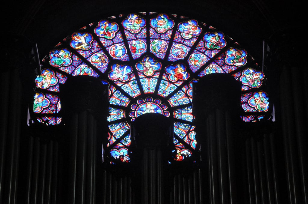 Stained glass work - Notre Dame