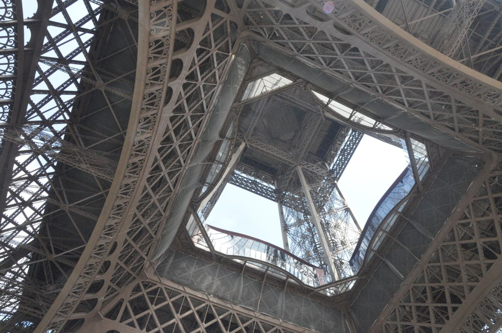 The inside of the eiffel tower