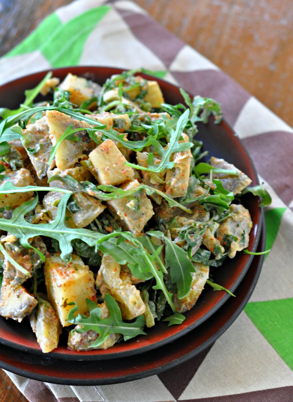 Sweet Potato and Rocket Salad with Hung Curd Dressing