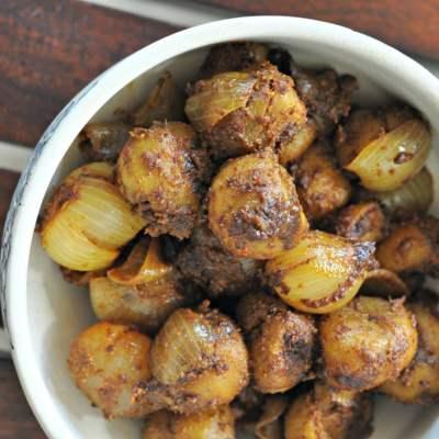 Bharwan Tinda (Spice stuffed Apple Gourd)