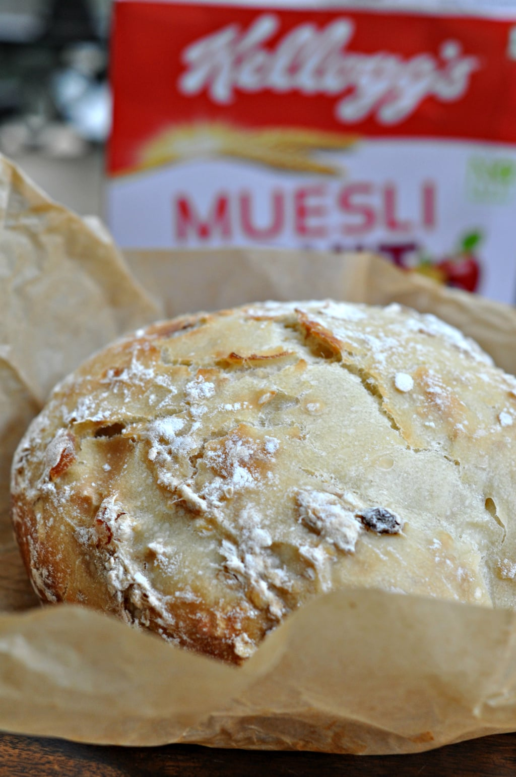 No Knead Muesli Dutch Oven Bread 1