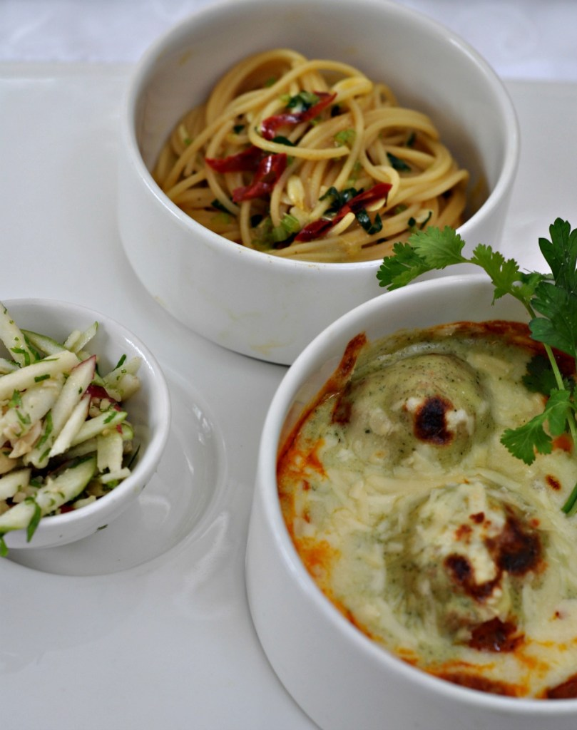 ITC Curried Spaghetti and Meatballs